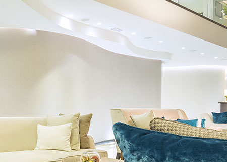 Controsoffitti in cartongesso roma controtelai pareti modulari for Controsoffitto soggiorno