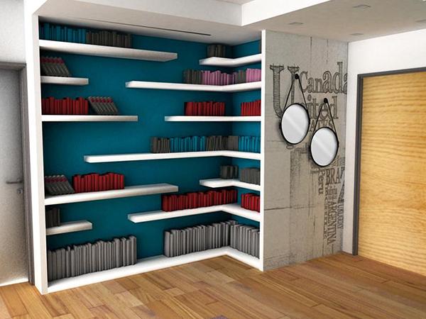 Pareti attrezzate in cartongesso roma for Librerie pareti attrezzate