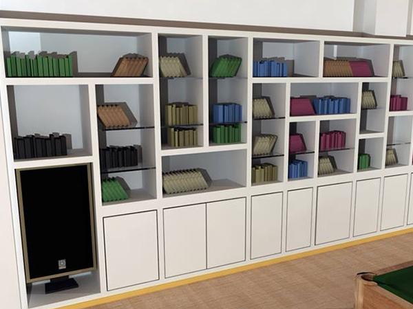 Pareti attrezzate in cartongesso roma for Librerie angolari