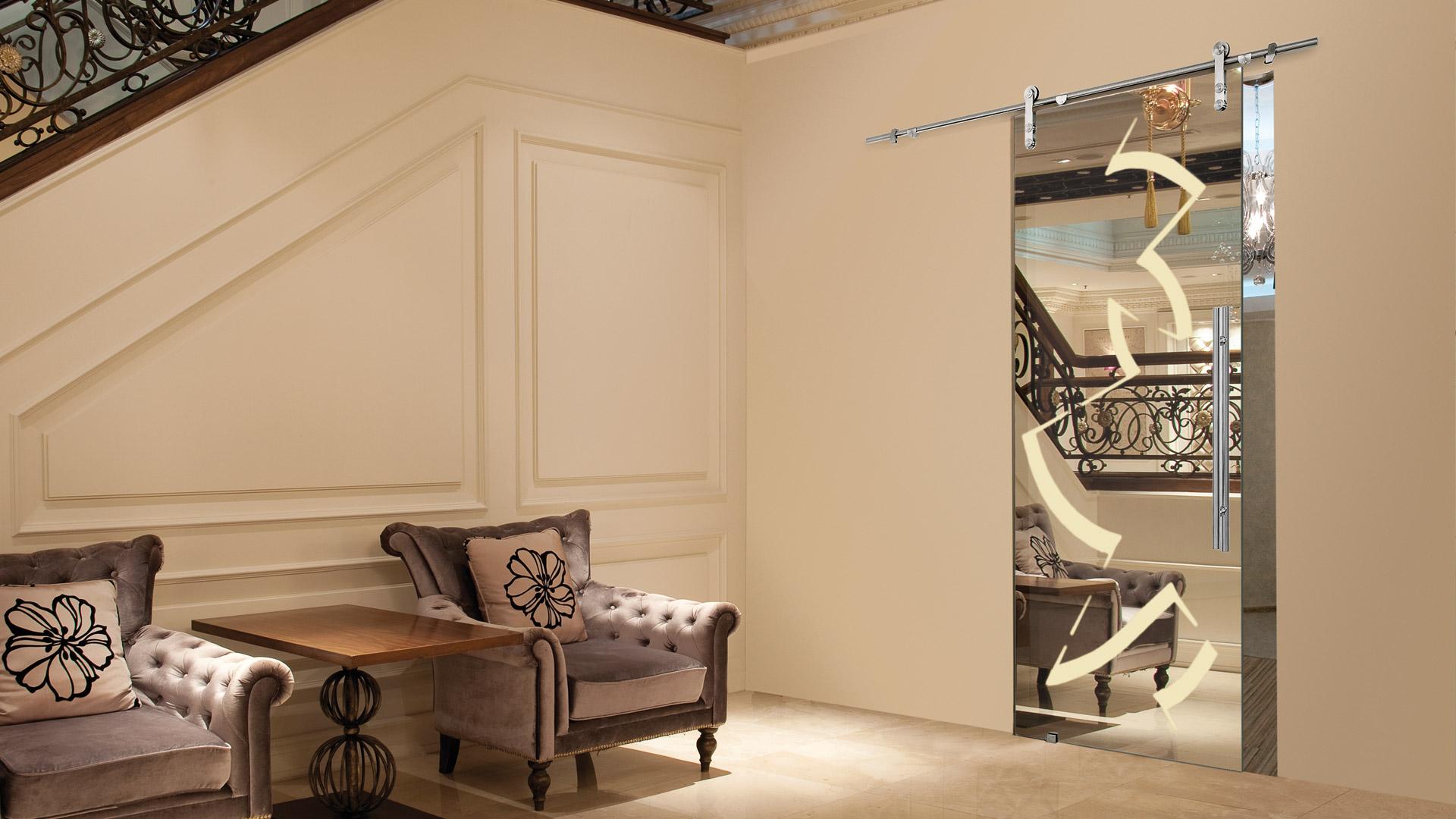 Porte per interno roma casali negozio - Porta specchio scorrevole ...